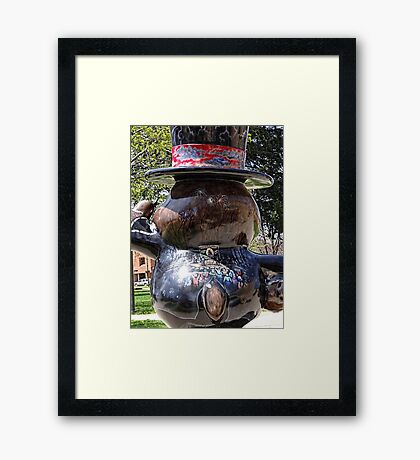 Groundhog Festivities Framed Print
