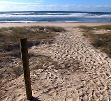 Beach at Lennox Head by John Catsoulis