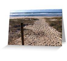 Beach at Lennox Head Greeting Card