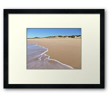 Beach at Urunga Framed Print