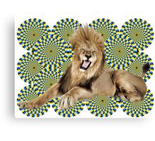 Roar Leo optical ilusion Canvas Print