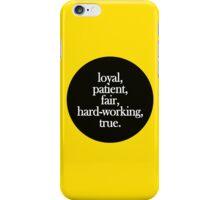 Hufflepuff - Minimalist Dot iPhone Case/Skin