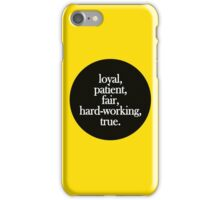 Hufflepuff - Minimalist Dot iPhone Case/Skin