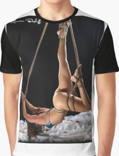 Dolphin Yoga Pose in Rope Graphic T-Shirt