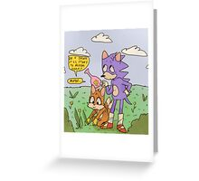 sonic+tails Greeting Card