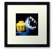 The guy in the Shark Suit! Framed Print