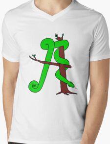 Alphabet of Desire: A (color) Mens V-Neck T-Shirt