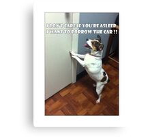 Dog Meme Canvas Print