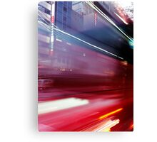Abstract blurred traffic on street in Tokyo Ginza art photo print Canvas Print
