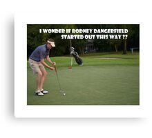 Golf Meme Canvas Print