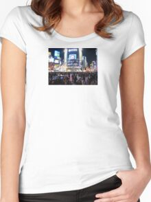 Shibuya Crossing Women's Fitted Scoop T-Shirt