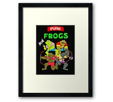 The punk frogs Framed Print