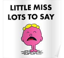 Miss Lots to Say Poster