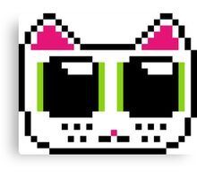 Pixel Kitty Canvas Print