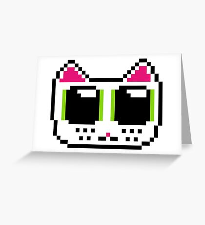 Pixel Kitty Greeting Card