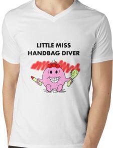 Miss Handbag Diver Mens V-Neck T-Shirt