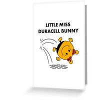 Miss Duracell Bunny Greeting Card