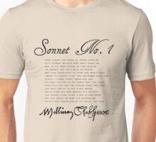 Shakespeare Sonnet No. 1 Unisex T-Shirt