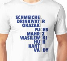 2015/16 Premier League Champions: Leicester player names Unisex T-Shirt