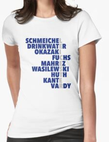 2015/16 Premier League Champions: Leicester player names Womens Fitted T-Shirt