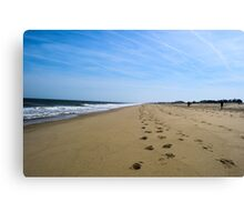 Beach Footprints & Sunshine Canvas Print