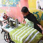 Seamstress Hyderabad India by Andrew  Makowiecki