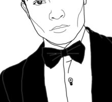 Chuck Bass - Black and White Sticker