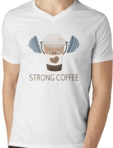 Strong Coffee Mens V-Neck T-Shirt