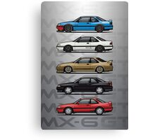 Stack of Mazda MX6 GTs Canvas Print