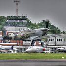 The Spirit of Kent Takeoff  by Nigel Bangert