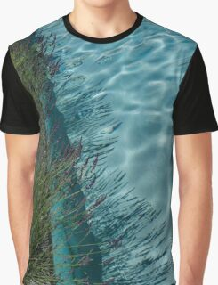 Aquamarine and Lavender - the Fragrant Edge of the Pool Graphic T-Shirt