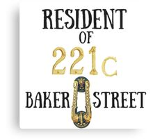 Resident of 221C Baker Street Canvas Print