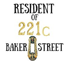 Resident of 221C Baker Street Photographic Print