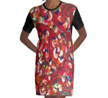 Whimsical  Graphic T-Shirt Dress