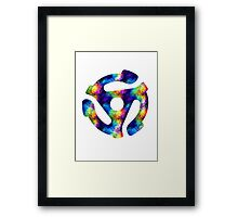 45 RECORD ADAPTER - bright watercolor Framed Print