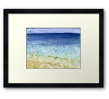 Tropical Seaside Framed Print