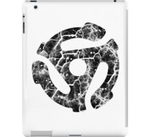 45 RECORD ADAPTER - extreme distressed black iPad Case/Skin