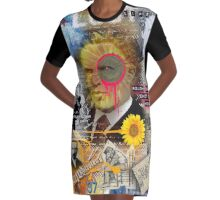 van gogh Graphic T-Shirt Dress