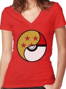 pocket dragon  Women's Fitted V-Neck T-Shirt
