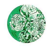 green ink flowers Photographic Print