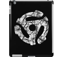 45 RECORD ADAPTER - extreme distressed white iPad Case/Skin