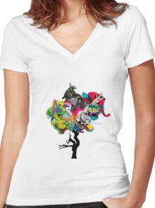Designer T-shirt - Tree Women's Fitted V-Neck T-Shirt