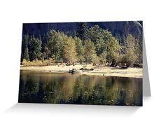 Stream through Yosemite Greeting Card