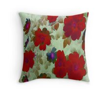 Vintage Red Roses Hips Throw Pillows Throw Pillow