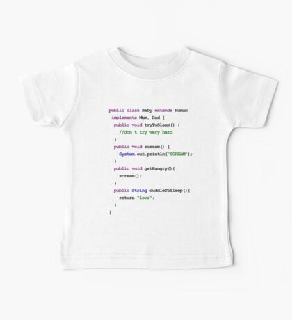 Java Code New Baby - love and scream Baby Tee