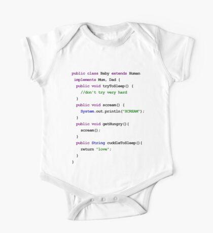 Java Code New Baby - love and scream One Piece - Short Sleeve