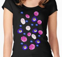 morning glory, iridescence Women's Fitted Scoop T-Shirt