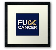 Fuck cancer shirt Framed Print