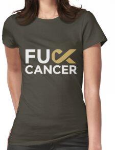 Fuck cancer shirt Womens Fitted T-Shirt