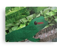 Happy Lizard Metal Print